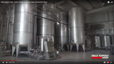 A new video of a cider production plant