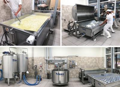 A complete mini dairy installed by Priamo Food Technologies – Della Toffola Group at FICO Eataly World